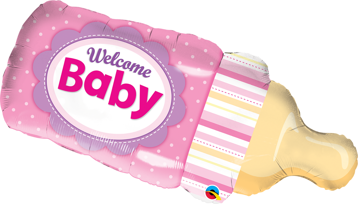 Welcome Baby Bottle Pink