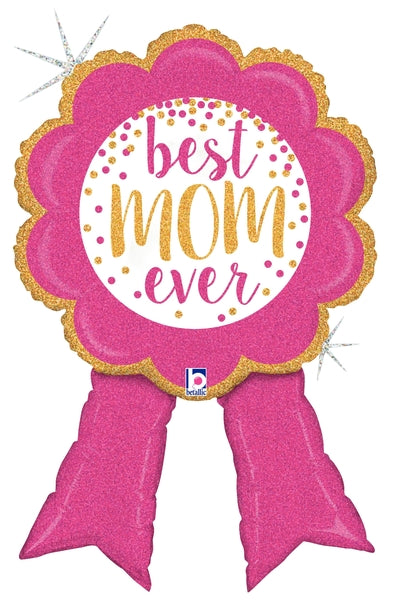 Glittering Best Mom Ribbon