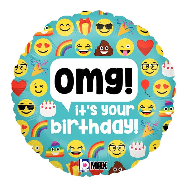 Emoji OMG Birthday