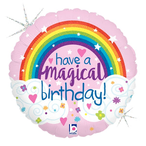Glitter Magical Rainbow Birthday