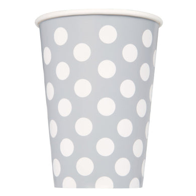 Silver Dots Paper Cups