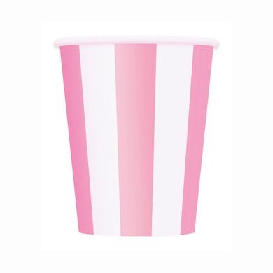Lovely Pink Stripes Paper Cups