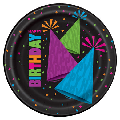 Neon Party Round - Dinner Plates