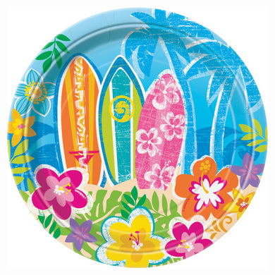 Hula Beach Party Round - Dessert Plates