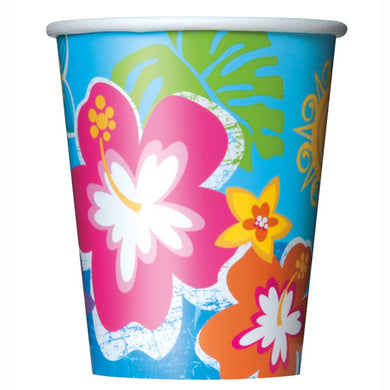 Hula Beach Party Paper Cups