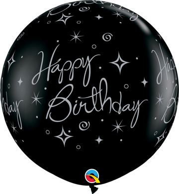 Birthday Sparkles & Swirls-A-Round