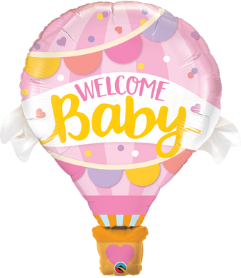Welcome Baby Pink Balloon