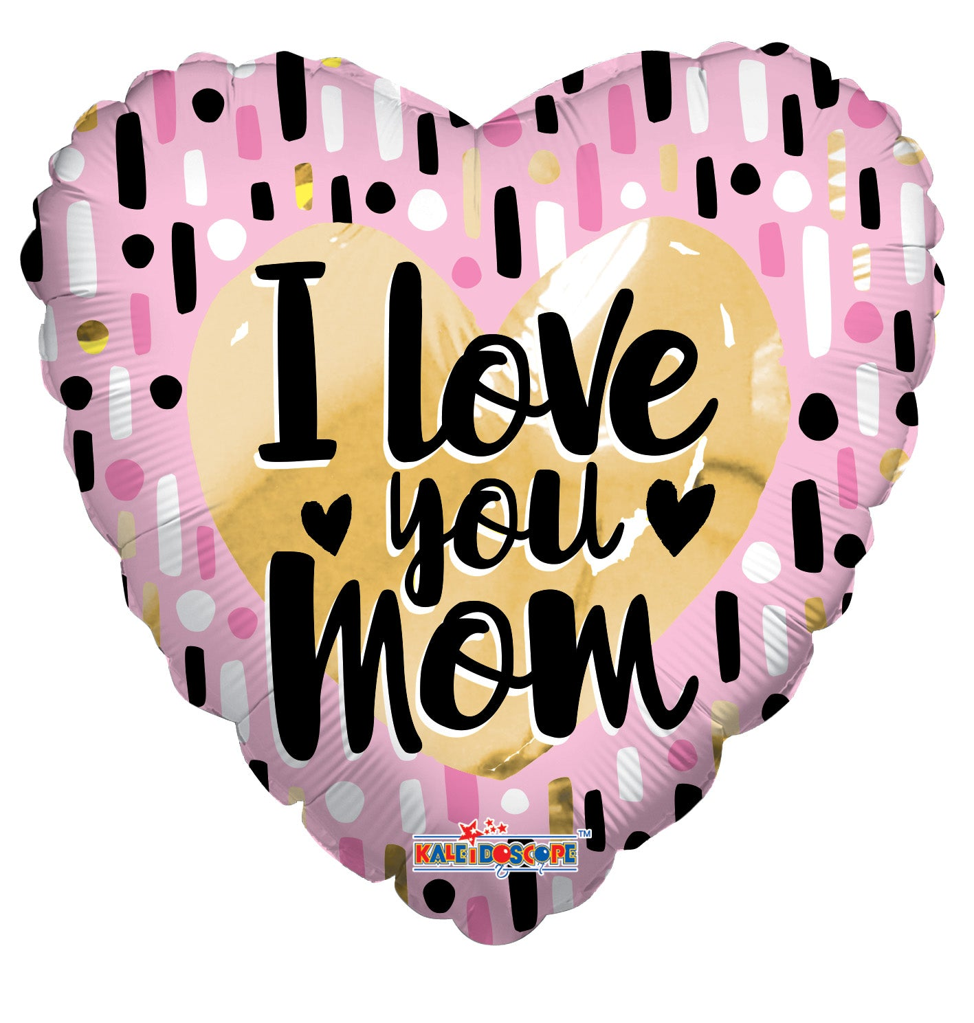 I Love You Mom Gold & Pink