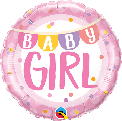 Baby Girl Banner & Dots