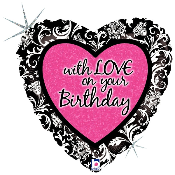 With Love On Your Birthday Damask
