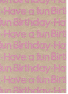 Fizz Kraft Fun Birthday Neon Pink