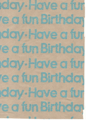 Fizz Kraft Fun Birthday Neon Blue