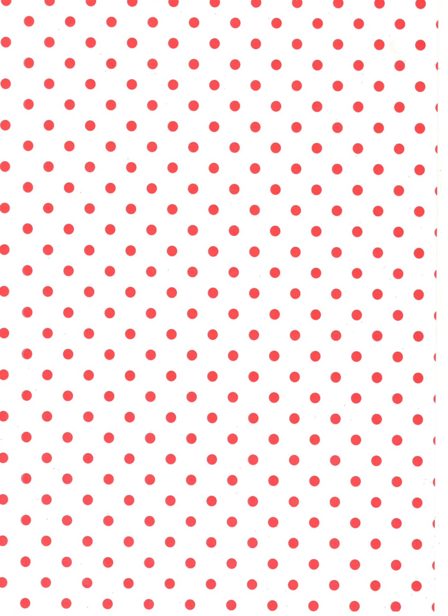 Small Spots Red On White Paper