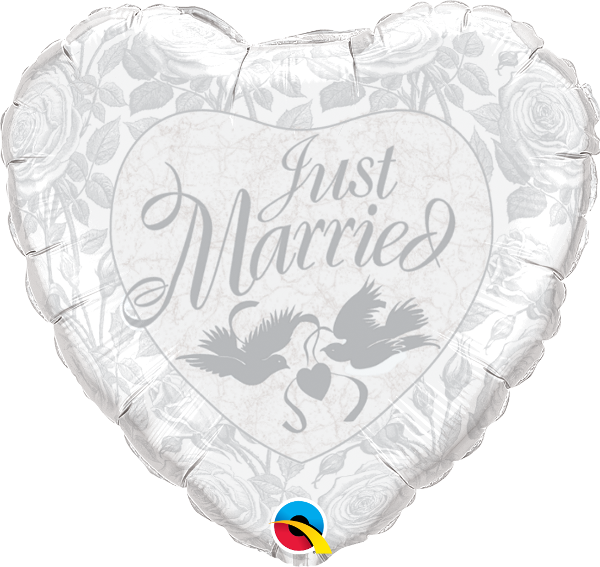 Just Married Pearl White & Silver