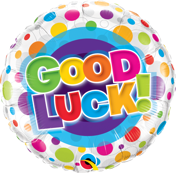 Good Luck Colorful Dots