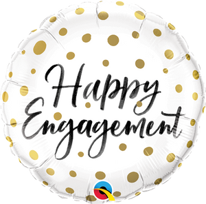 Happy Engagement Gold Dots