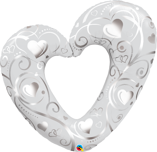 Hearts & Filigree Pearl White