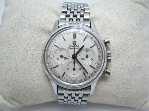 Nice 1965 Omega Seamaster Watch With Bracelet Band & Omega Logo on Buckle
