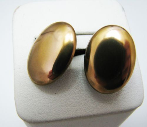 Handsome Vintage Cuff links in Gold Tone Finish