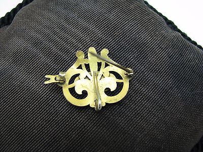 Vintage Filigree Lapel Watch Pin - Gold Filled