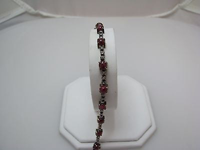 Amazing Vintage 14k Yellow Gold Diamond and Ruby Bracelet