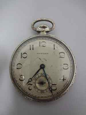 14k Vintage 1900s E. Howard Pocket Watch - White Gold