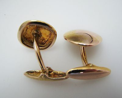 Vintage Square Cuff Links in Polished 14k Yellow Gold