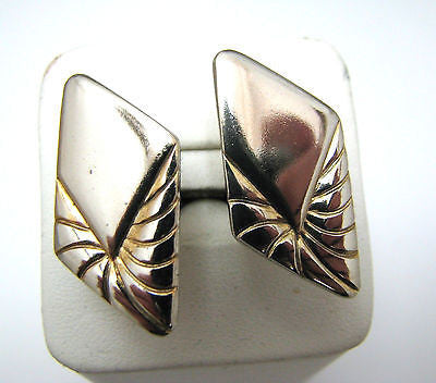 Vintage Gold tone Diamond Shaped Cuff links