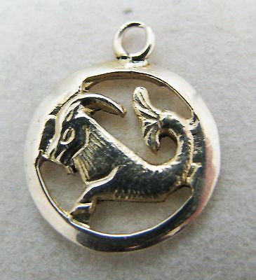 14k Yellow Gold Capricorn Charm or Pendant