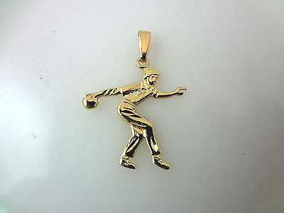 14k Yellow Gold Bowler Charm or Pendant