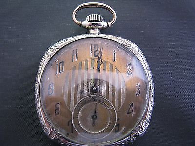Vintage Late 1920's Time King Illinois Watch Co. Pocket Watch 14k GF