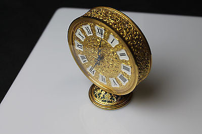 Lovely French Jaeger LeCoultre Co. Filigree Shelf Clock with Swiss Movement