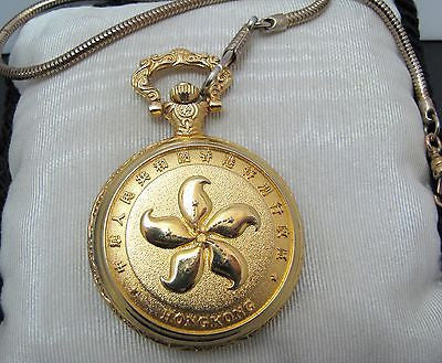 Delightful Gold Tone Special Srea Quartz Pocket Watch from Hong Kong