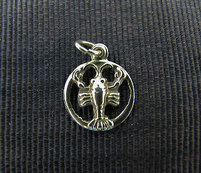 Cute and Lovely 14k Yellow Gold Lobster Charm or Pendant