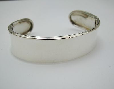 Sterling Silver Cuff Bracelet with Polished Finish