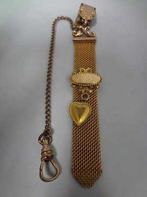 1900-1910 - Vintage Pocket Watch Chain and Fob