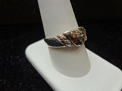 Amazing Sterling and 10k Tri Color Gold Ring