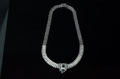 Stunning London Blue Topaz Necklace with Diamonds