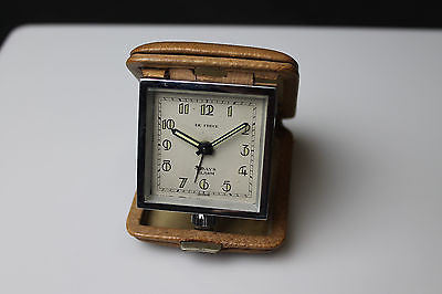 Beautiful Vintage De Fec Swiss 8-day Folding Travel Alarm Clock