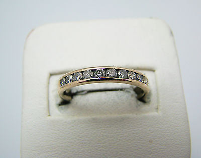 Beautiful 14k Yellow Gold channel Set Diamond Wedding Band