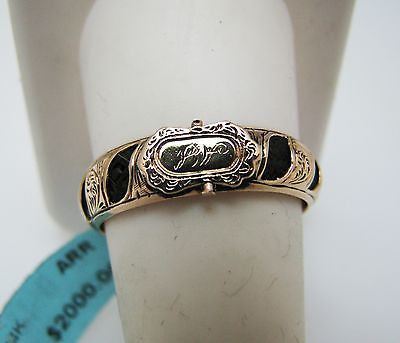 Stunning Victorian Memorial Woven Hair Ring in 14k Rose Gold