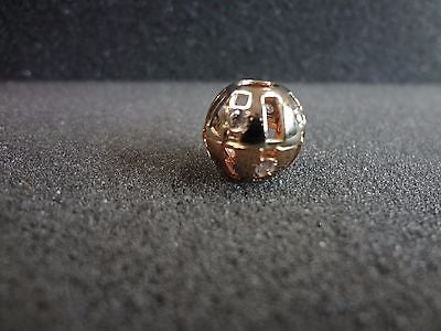 Gorgeous Omega slide Ball pendant 14k Gold
