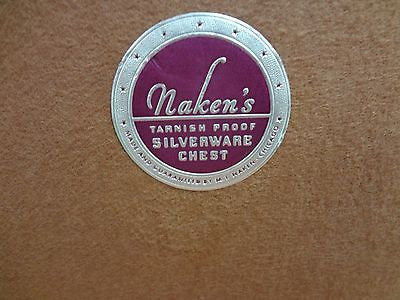 Used Naken's Silverware Storage Box with Tarnish Preventive Cloth