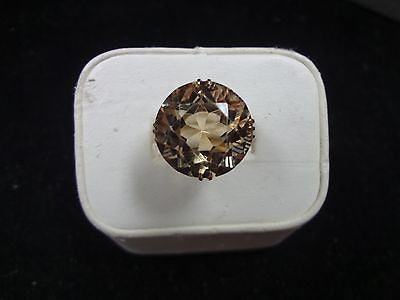 Amazing 14k Yellow Gold Ring With Beautiful Quartz