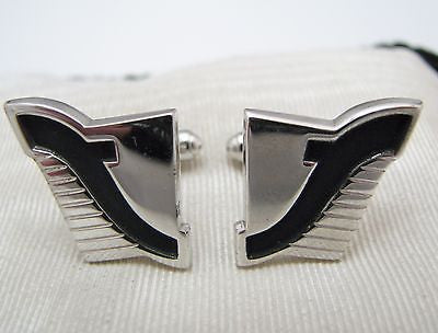 Vintage Silver tone Cuff links by Anson