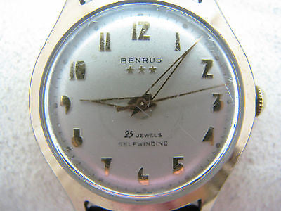 1950's Men's Benrus Self Winding Watch with 25 Jewels EG 135