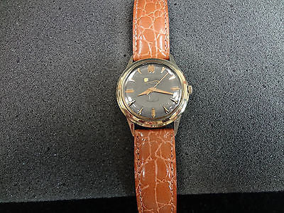 Vintage 1960s Men's Lucien Piccard Automatic Seashark Watch 10k Gold Filled