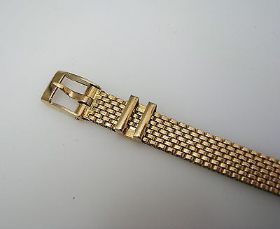 A015 1912 Vintage Gold Filled Elgin Unisex Watch with Metal Buckle Band in Gold Tone
