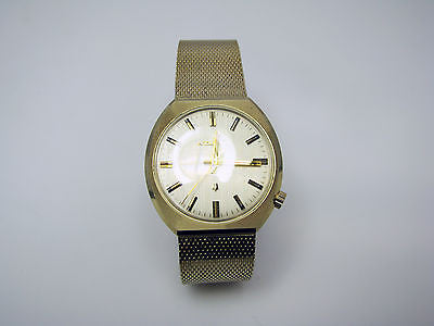 a007 Nice 1970s Bulova Accutron Watch with Attached Mesh Bracelet Style Band