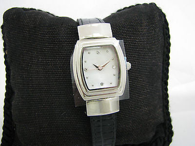Pretty Mary Kay Quartz Watch with Mother of Pearl Dial in Silver Tone